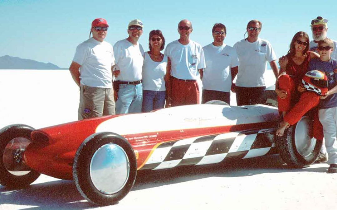 2000.08 - In Bonneville for the Speedweek on the salt lakes with the team of Tanis Hammond, one of the fastest women on earth