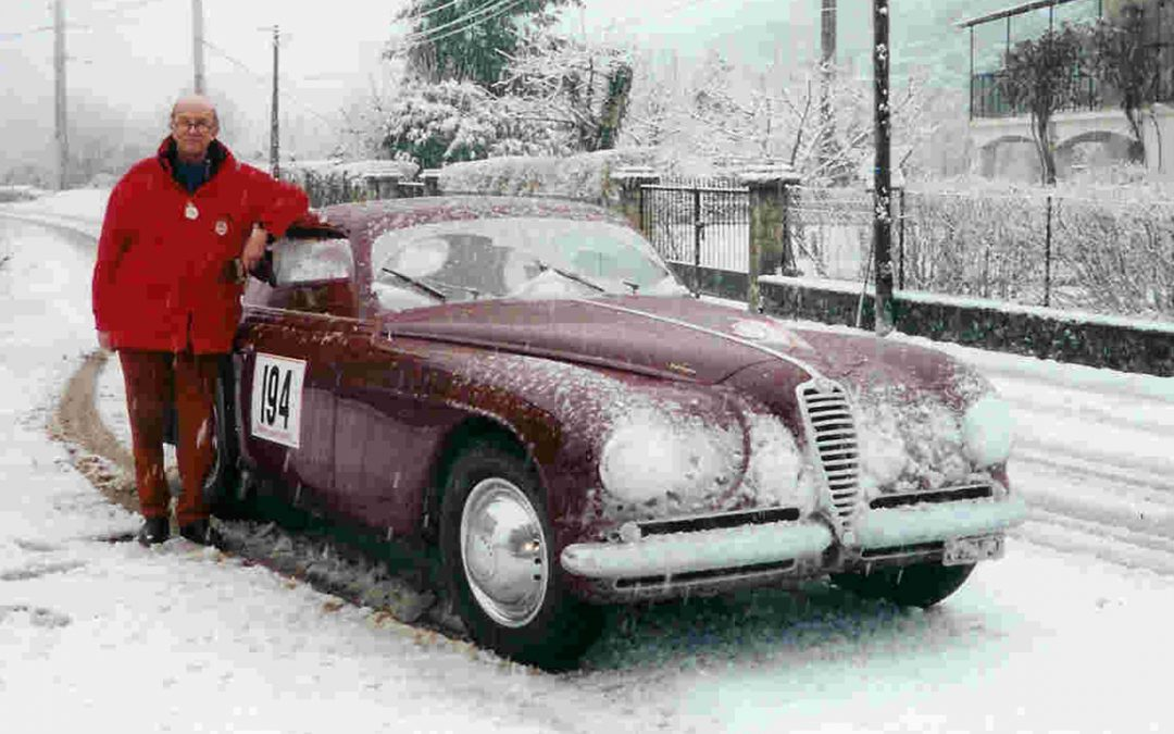 2001.01 – At the Historic Rallye Monte-Carlo with the Alfa Romeo 6C 2500 Villa d'Este which had participated in the 'real' Monte-Carlo in 1951