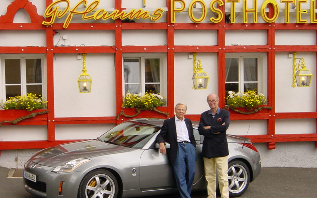 2003.07.02 – Teaming up with Paul Frère during the presentation of the Nissan 350Z