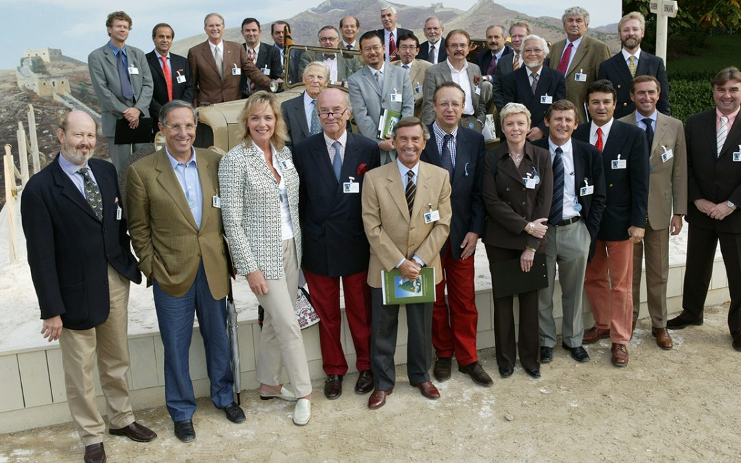 2003.07.09 – The judges of the Louis Vuitton Classic Concours at Bagatelle, which I had the honour to chair