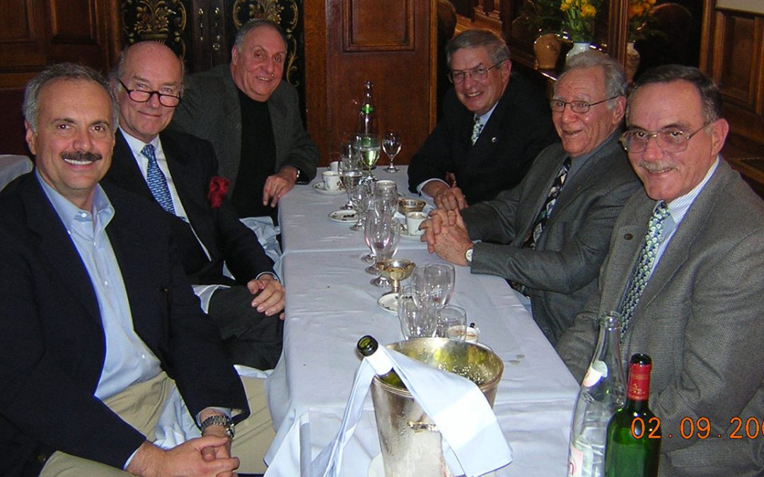 2005.02.10 – Dinner at the Voltaire in Paris, with some american friends, Steve Pasteiner and Larry Smith (Meadow Brook Concours d'Elegance), Bill Warner (Amelia Island Concours d'Elegance) and Jules Heumann (Pebble Beach Concours d'Elegance)