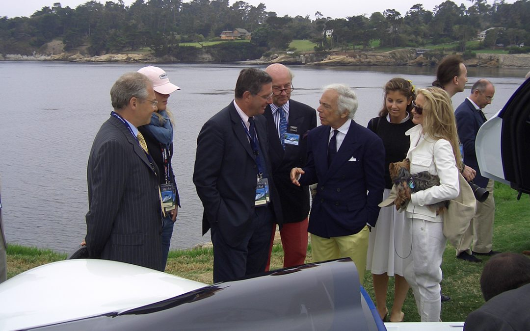 2005.08.21 – In Pebble Beach, conversation between Ralph Lauren and Andrea Pininfarina around the Maserati Birdcage
