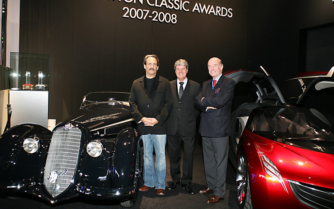 2008.01.13 – Giving the Louis Vuitton Classic Best of the Best 'Concours Award' to the Alfa Romeo 8C 2900 Spider Touring during the Detroit Motor Show with Ray Scherr and Yves Carcelle …