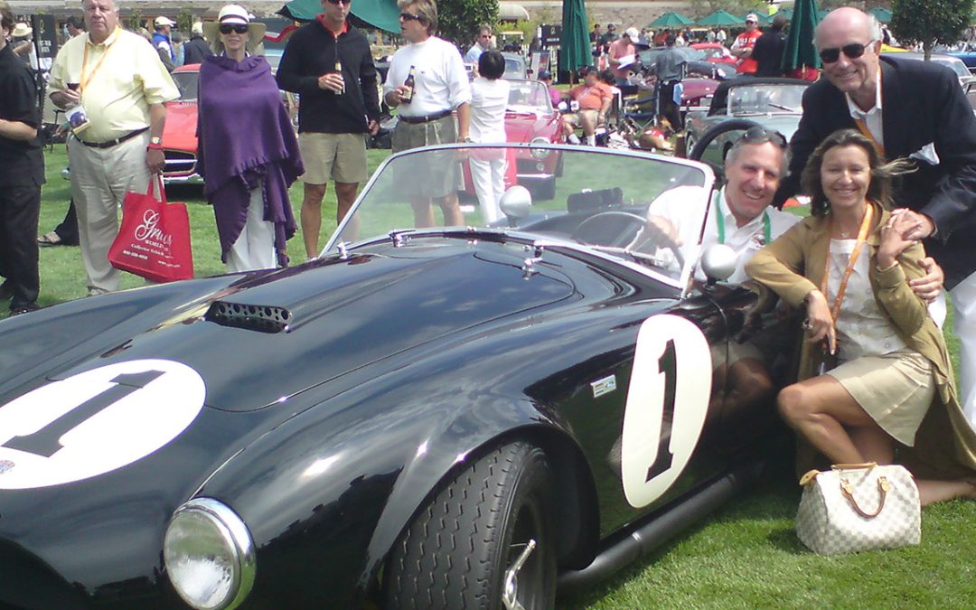 2008.08.15 - Bruce Meyer's Shelby Cobra, the first one, at the Quail, a Motorsports Gathering with Christine Bélanger, responsible for the corporate events at Louis Vuitton
