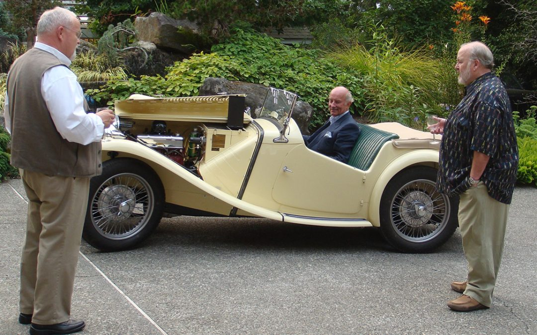 2010.08.01 - A moment of nostalgy at the wheel of an MG TC of which I have owned seven!