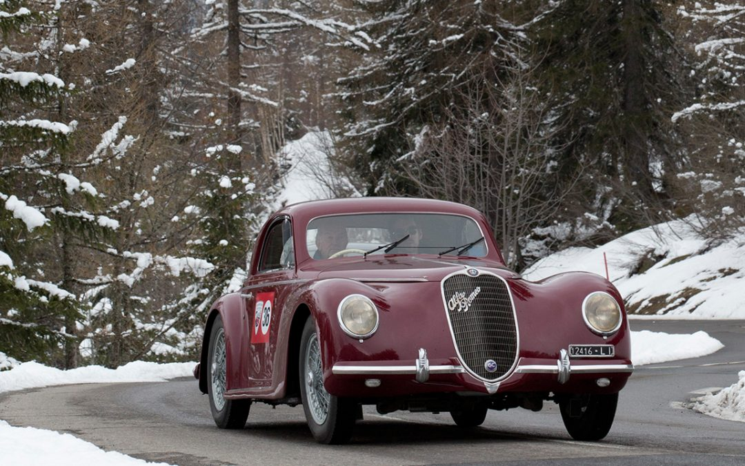 2012.04.25 – Louis Vuitton Classic Serenissima Run, an Alfa Romeo 6C 2500 SS in the snow – in April!