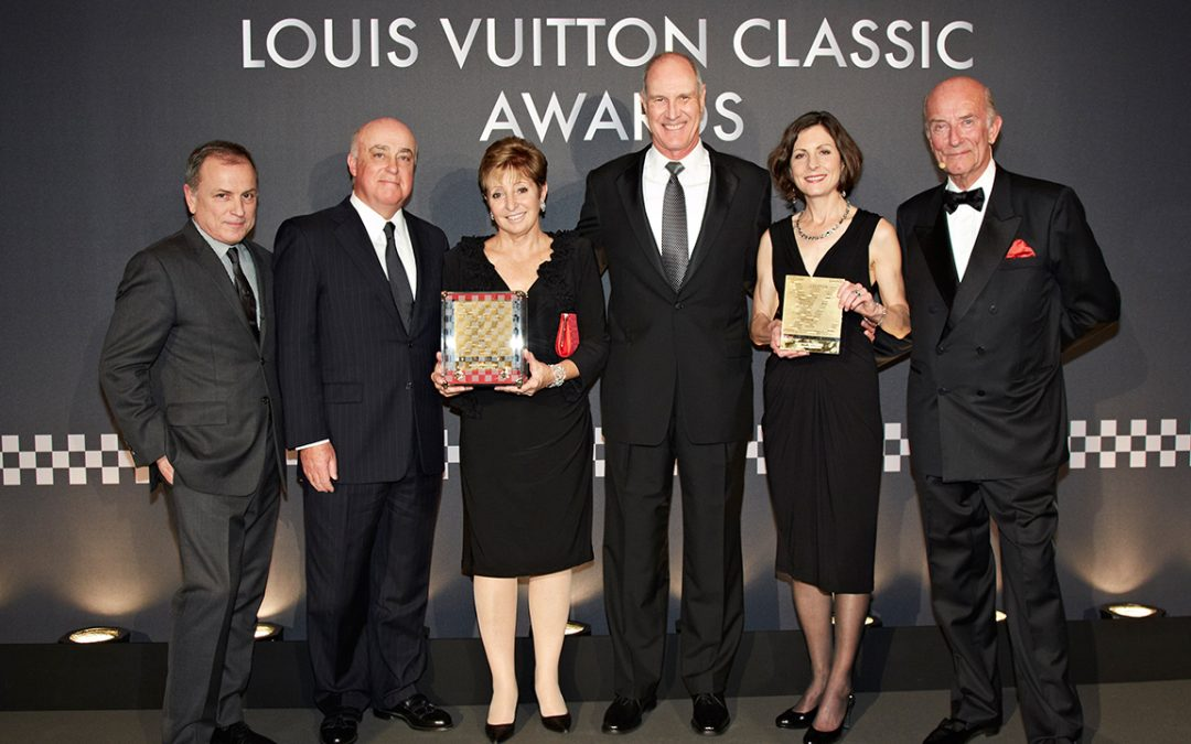 2013.02.05_3 – Michael Burke, John and Alicia Barnes, Charles and Karen Nearburg, respectively CEO of Louis Vuitton, organisers of Cavallino Classic and owners of the Concours Award winning Ferrari 250 GTO