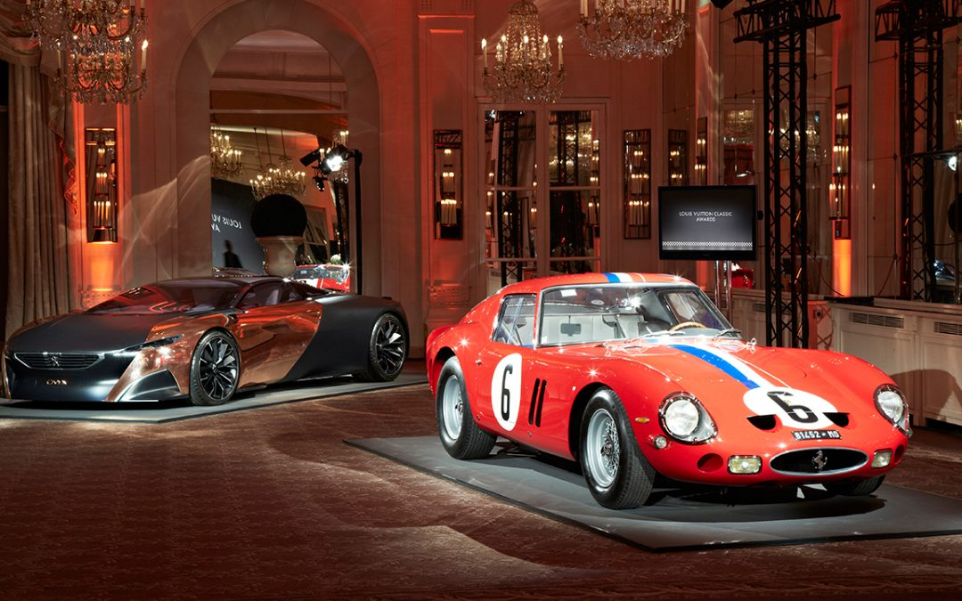 2013.02.05_2 – The 1962 Ferrari 250 GTO winner of the 2012 Louis Vuitton Classic Concours Award, and the Peugeot Onyx, winner of the Concept Award – a potential winner for the 2050 Pebble Beach Concours d'Elegance?