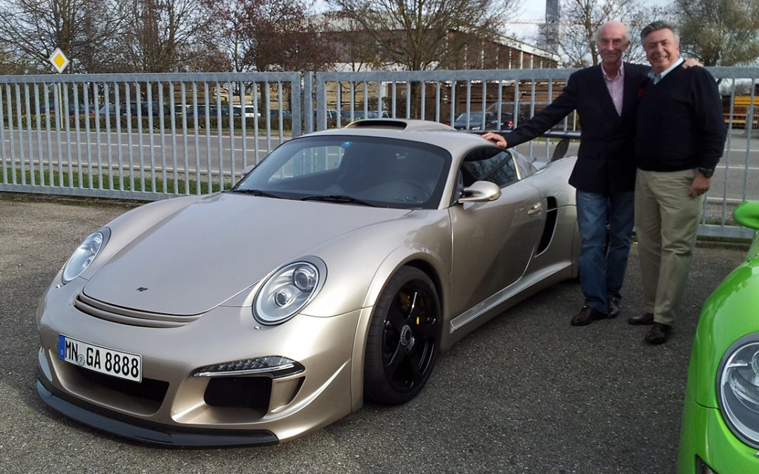 2013.11.07 – At Pfaffenhausen with Alois Ruf, about to take the road for a test of his extraordinary CTR3
