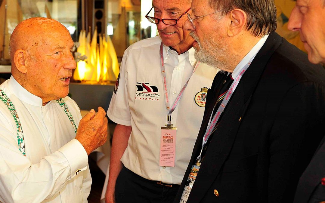 2014.05.09 – Conversation with Sir Stirling Moss and Theodor Huschek of the Grand Prix Drivers Association during the Monaco Grand Prix Historique