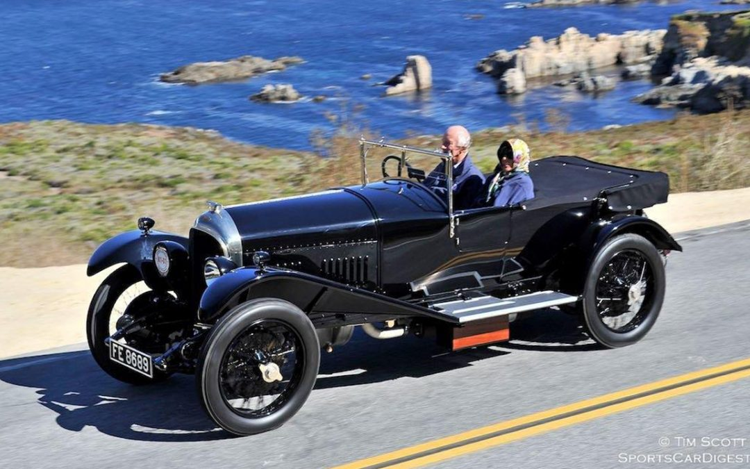 2015.08.13 - Au volant de ma Bentley Three Litre de 1926 sur la Highway N.1 avant le Concours d'Elégance de Pebble Beach
