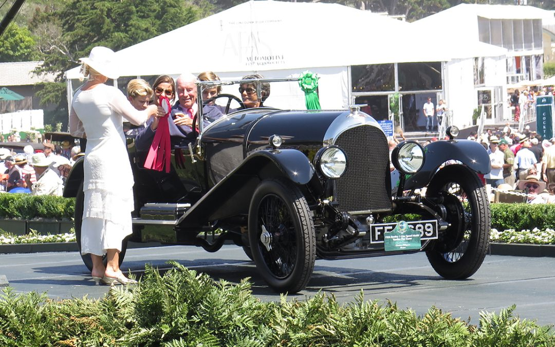 2015.08.16 – The whole family in our Three Litre Bentley enjoying a 2nd in Class at the Pebble Beach Concours d'Elegance