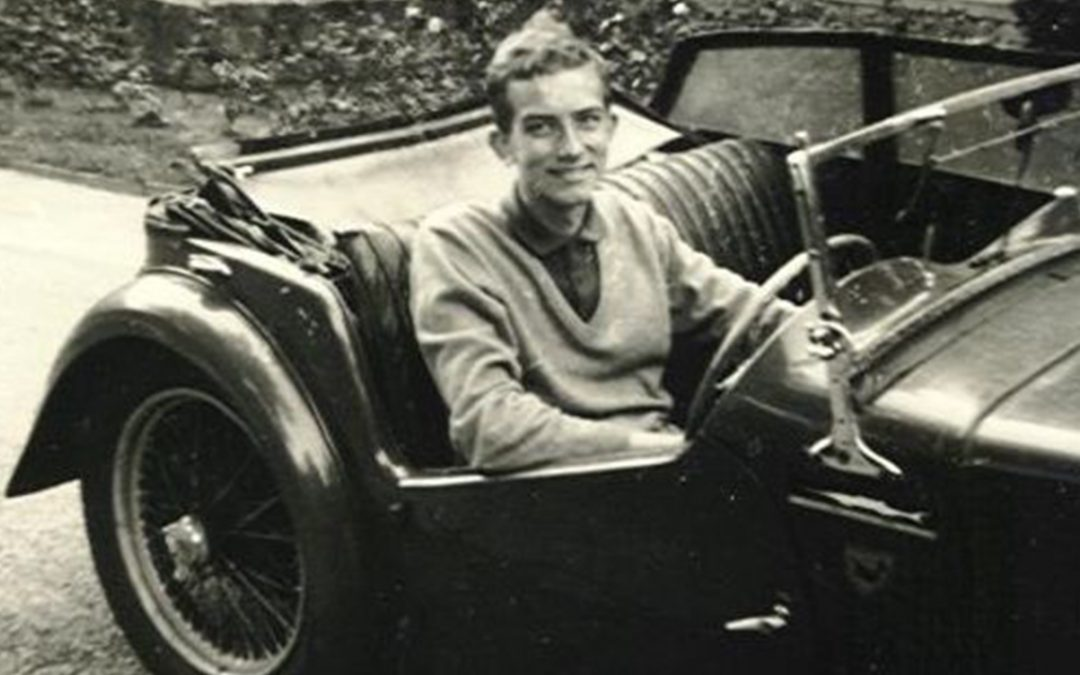 1962 – Behind the wheel of my first car, an MG TC, the day of my 18th birthday – nice memories!