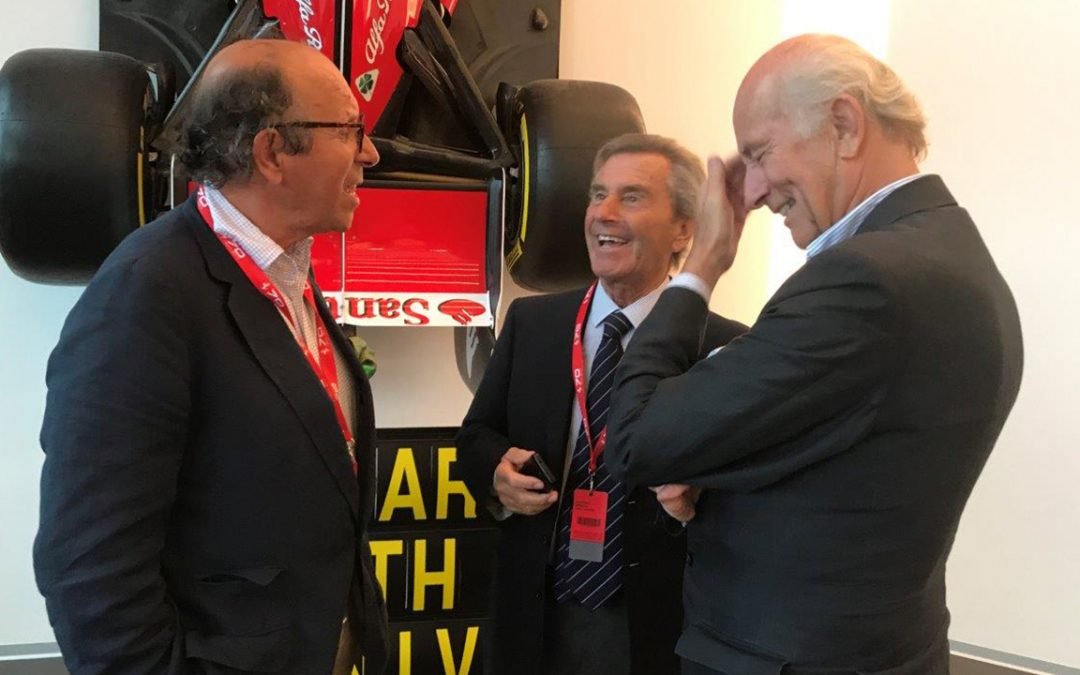 2017.09.08 – Maranello, happy to chat with long time friends Leonardo Fioravanti and Antoine Prunet