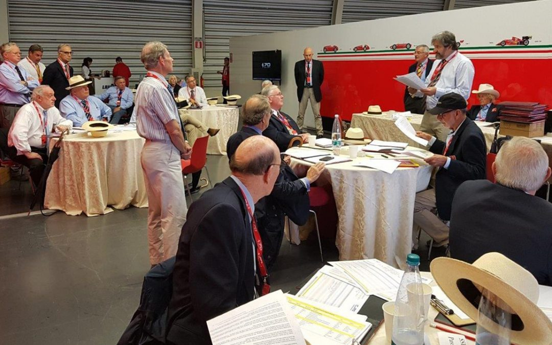 2017.09.10_1 – Judges at Ferrari 70 in the studious intimacy of their meeting room