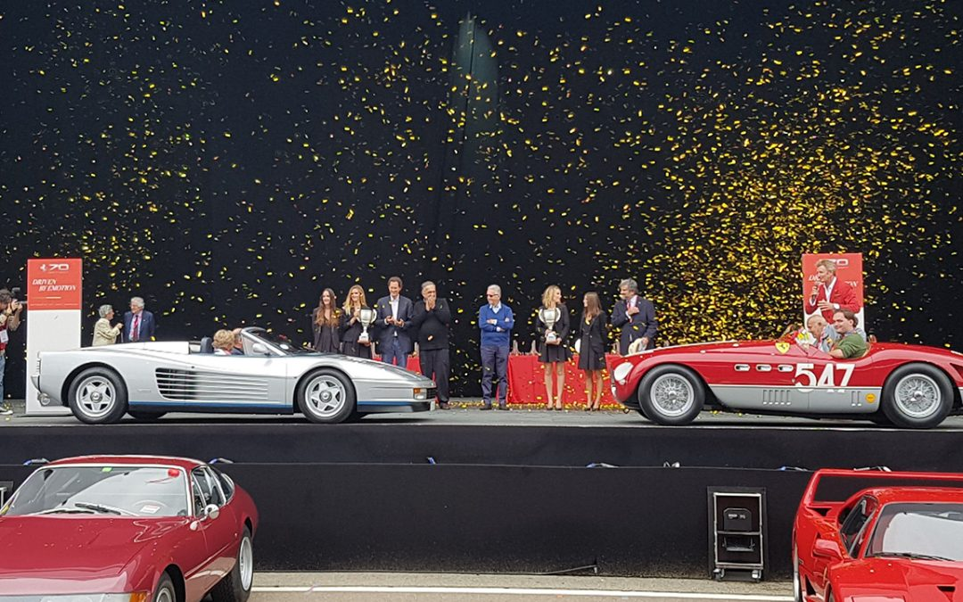 2017.09.10_2 – John Elkann, Sergio Marchionne and Piero Ferrari were all attending the prize giving ceremony of Ferrari 70's Concorso d'Eleganza crowning the one-off ex-Gianni Agnelli Testarossa spyder and the ex-Marzotto 1953 Mille Miglia winning 340 MM spider, since many years in the ownership of a modenese collector