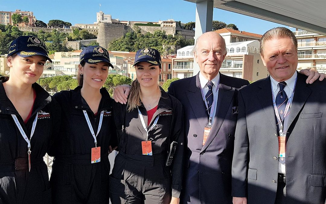 2017.05.13 - At the Monaco ePrix, on the Belvedere, a terrace managed by the Automobile Club of Monaco, with the hospitality team