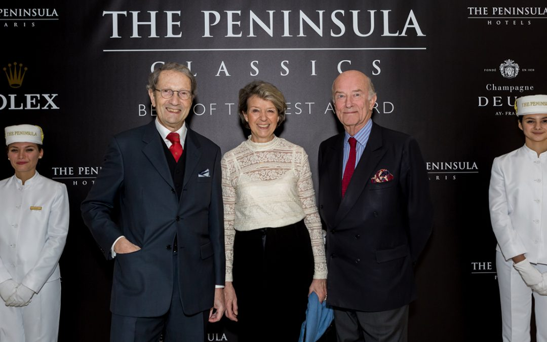 2018.02.08_2 – Welcoming Jean Berchon, President of the Association Sportive of the Automobile Club de France, and his wife Aleth to the gala evening of the third Peninsula Classics Best of the Best Award in Paris