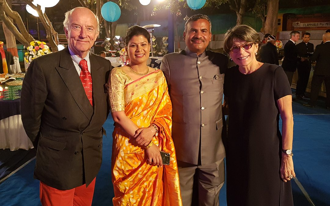 2018.02.17 - With Madan Mohan, organiser of the 21 Gun Salute Event, and his wife