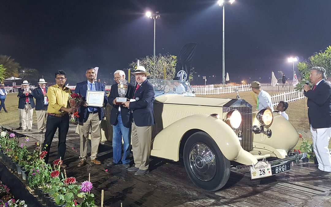 2018.02.18_4 – The awards ceremony terminated after the sun has set with a Best of Show attributed to the deserving 1937 Rolls-Royce 25-30