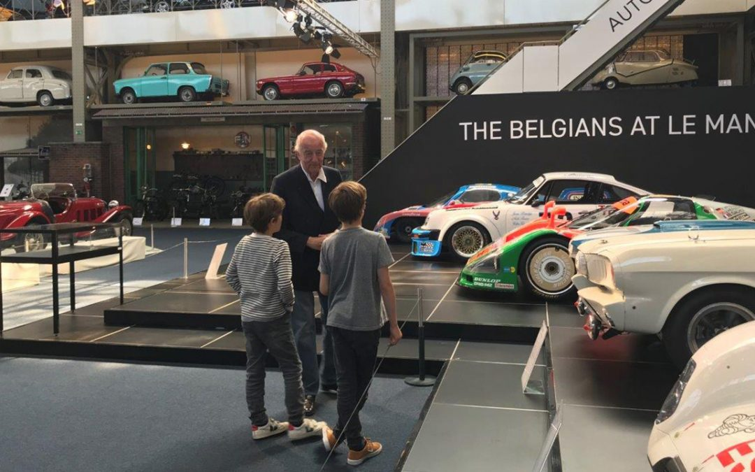 2018.05.06 - Visiting the Autoworld museum in Brussels, discussing racing cars with two fascinated boys. Will they become enthusiasts?