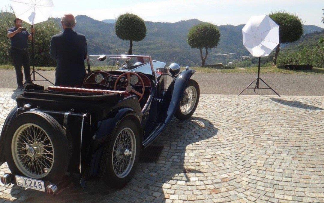 2018.05.20_1 - Being photographed for the Moroccan magazine Gentleman Driver with my first (car) love, the MG TC