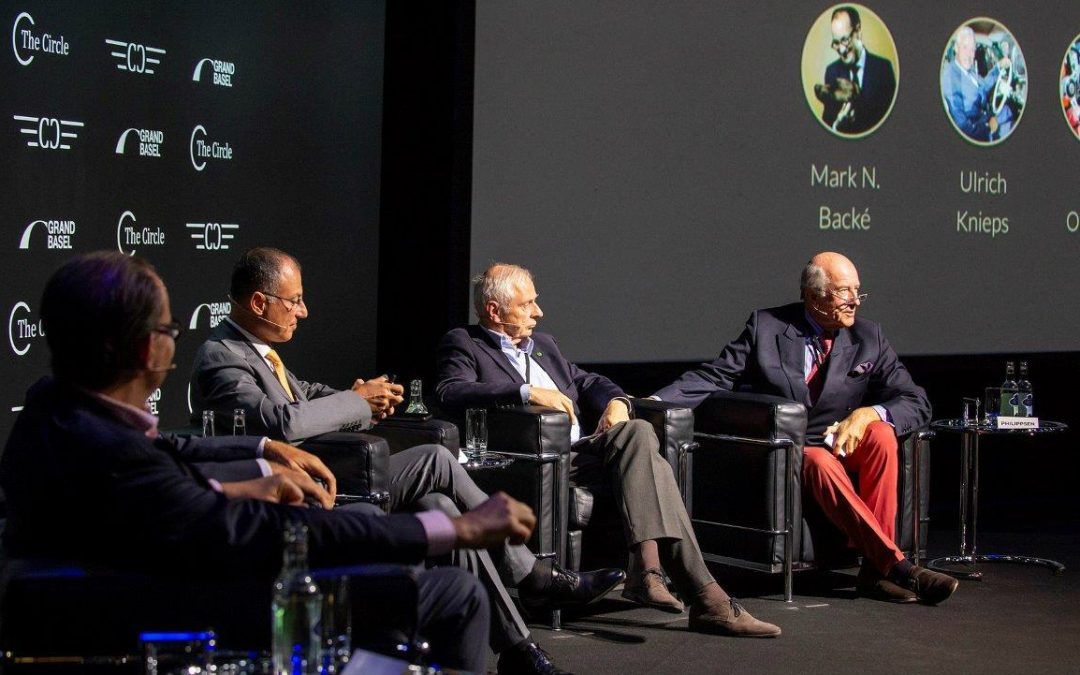 2018.09.03 - Moderating a panel about the future of classic cars events at The Circle, an initiative of the Classic Car Trust, hosted by Grand Basel. From left to right: Mark Backé (Director of Grand Basel), Ulrich Knieps (hidden, Head of BMW Group Classic, President of Concorso d'Eleganza Villa d'Este), Luigi Orlandini (Chairman of Canossa Events) and Patrick Rollet (President of FIVA)
